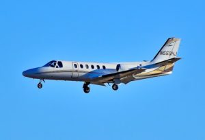 Cessna C550 à l'atterrissage