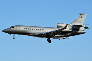 Dassault Falcon 7X à l'atterrissage