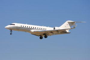Jet privé Global 6000 au décollage