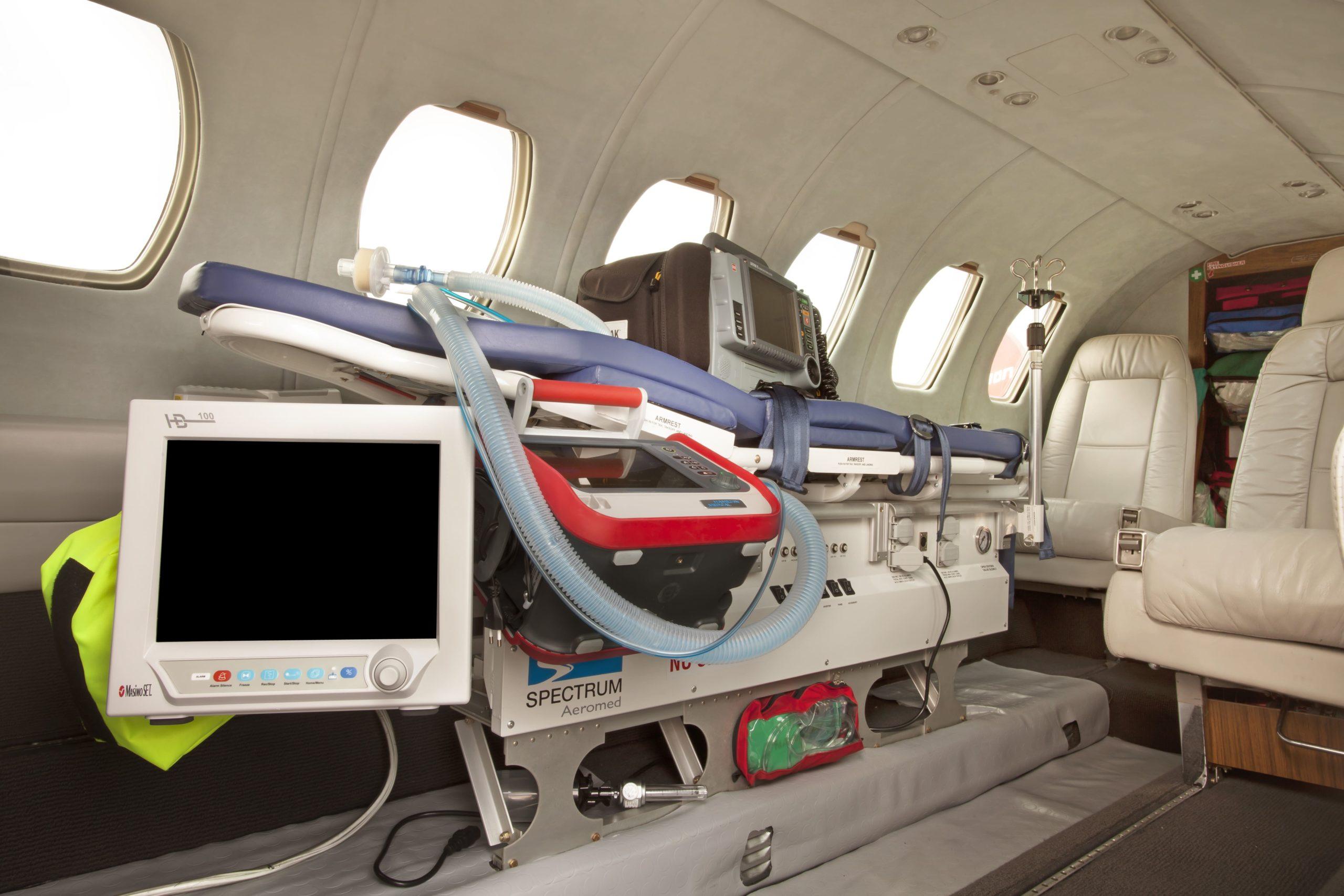 Transport médicalisé en jet privé