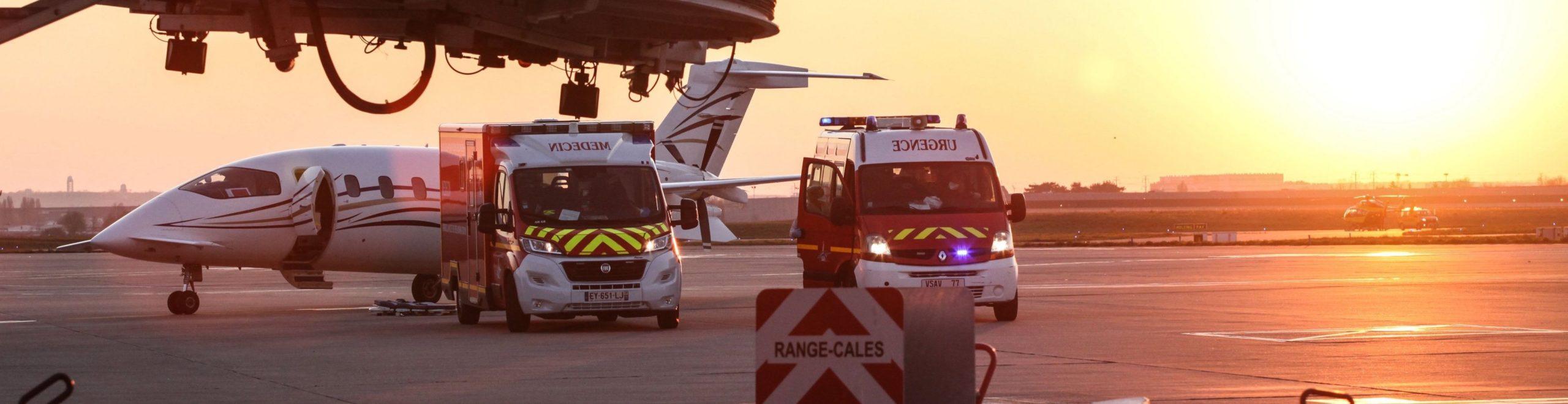 Évacuation sanitaire en jet privé à l'aéroport de Paris Orly
