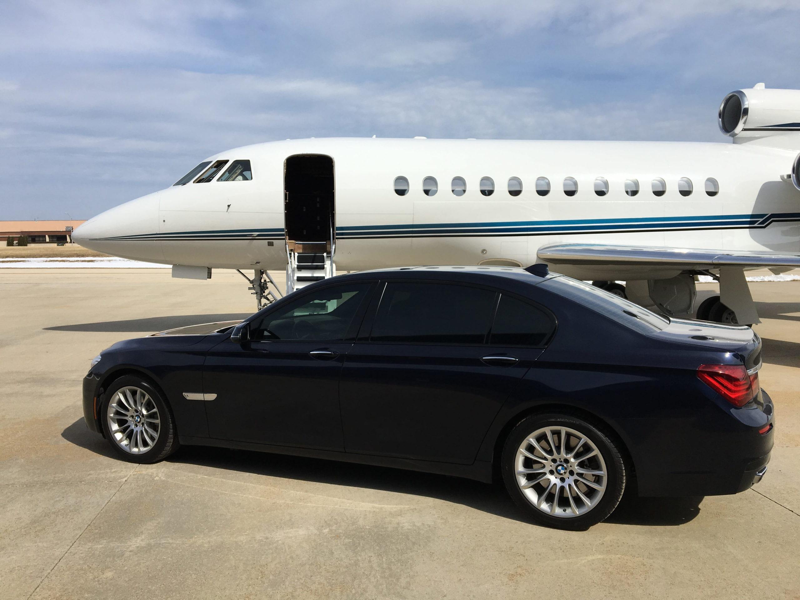 Jet privé et chauffeur privé en BMW