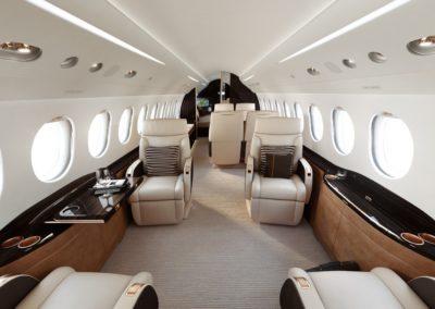Les sièges dans la cabine du Falcon 8X