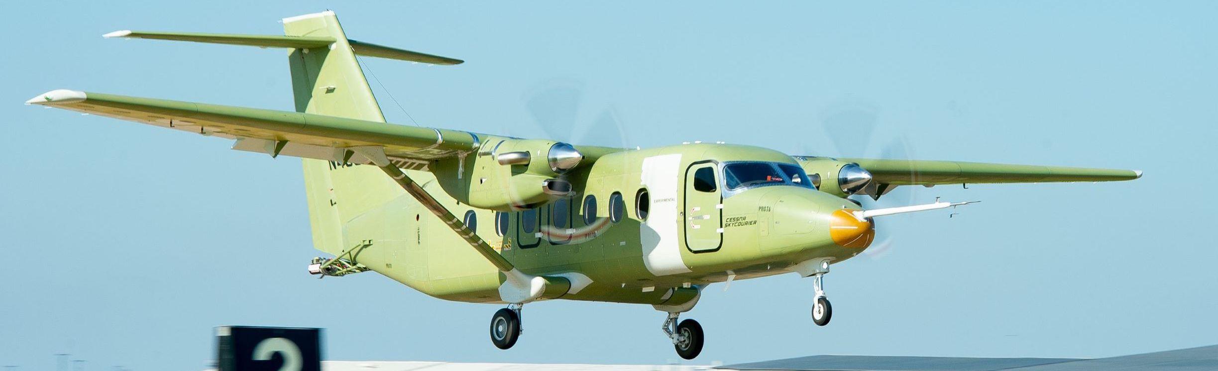 Le Cessna 408 SkyCourier au décollage