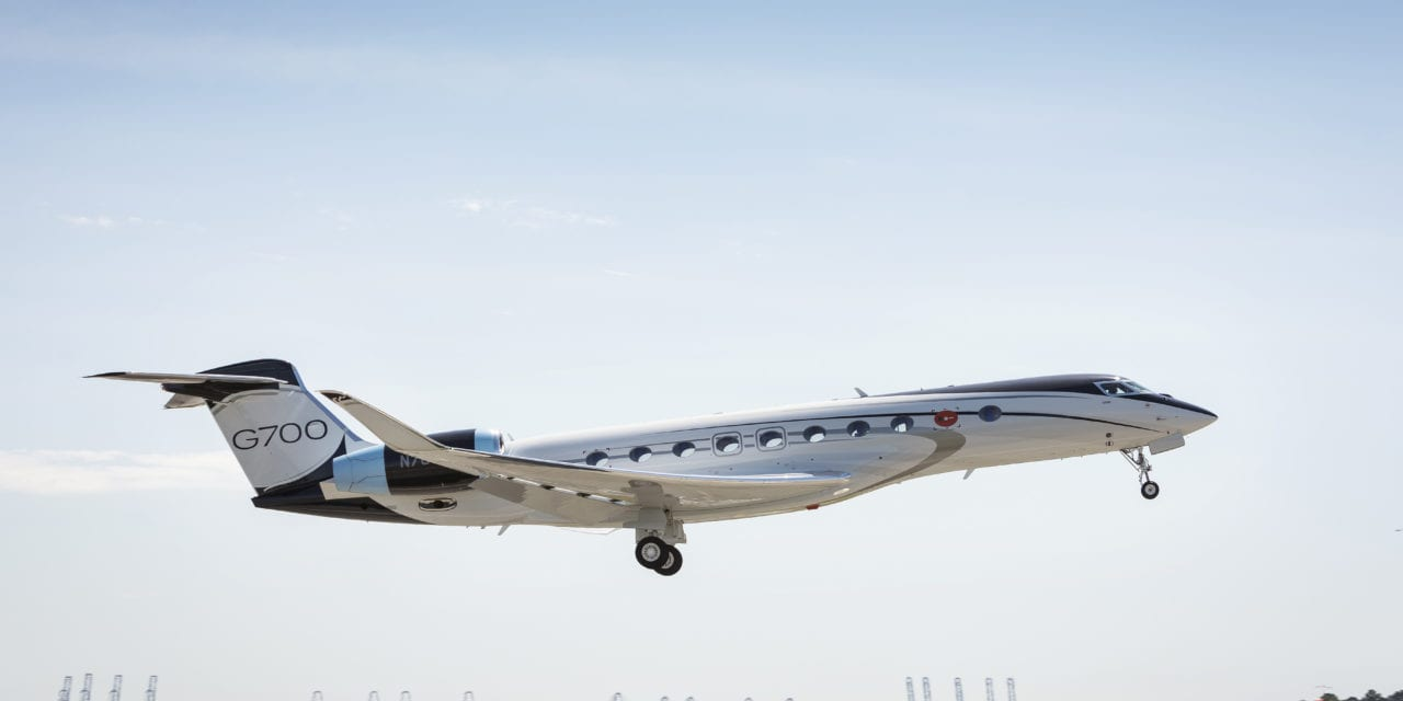 Gulfstream G700 taking off