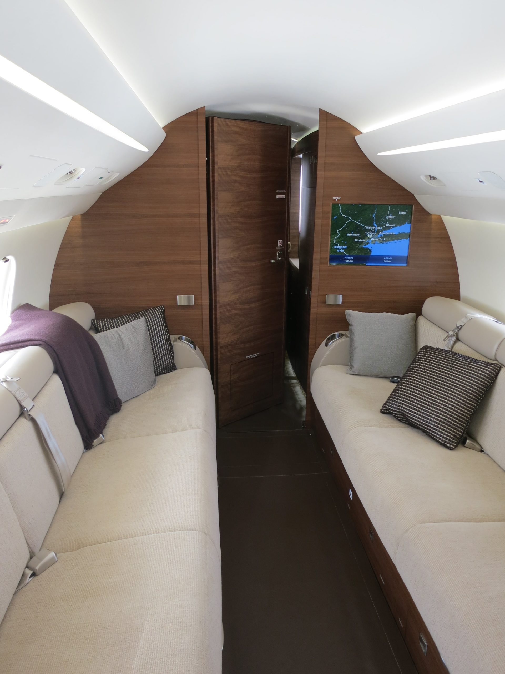 Cabine du jet privé Dassault Falcon 7X