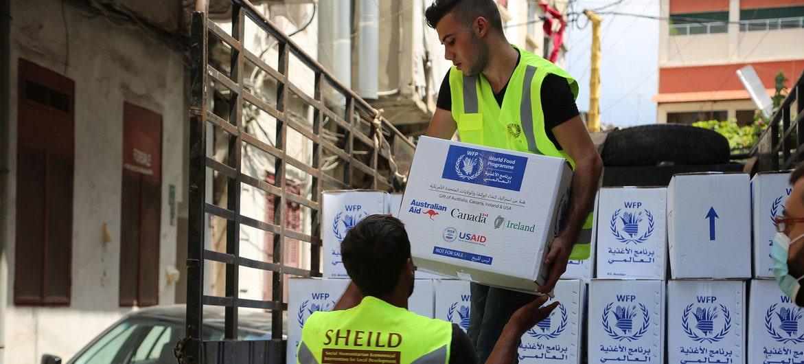 Le programme alimentaire mondial de l'ONU à Beyrouth au LIban