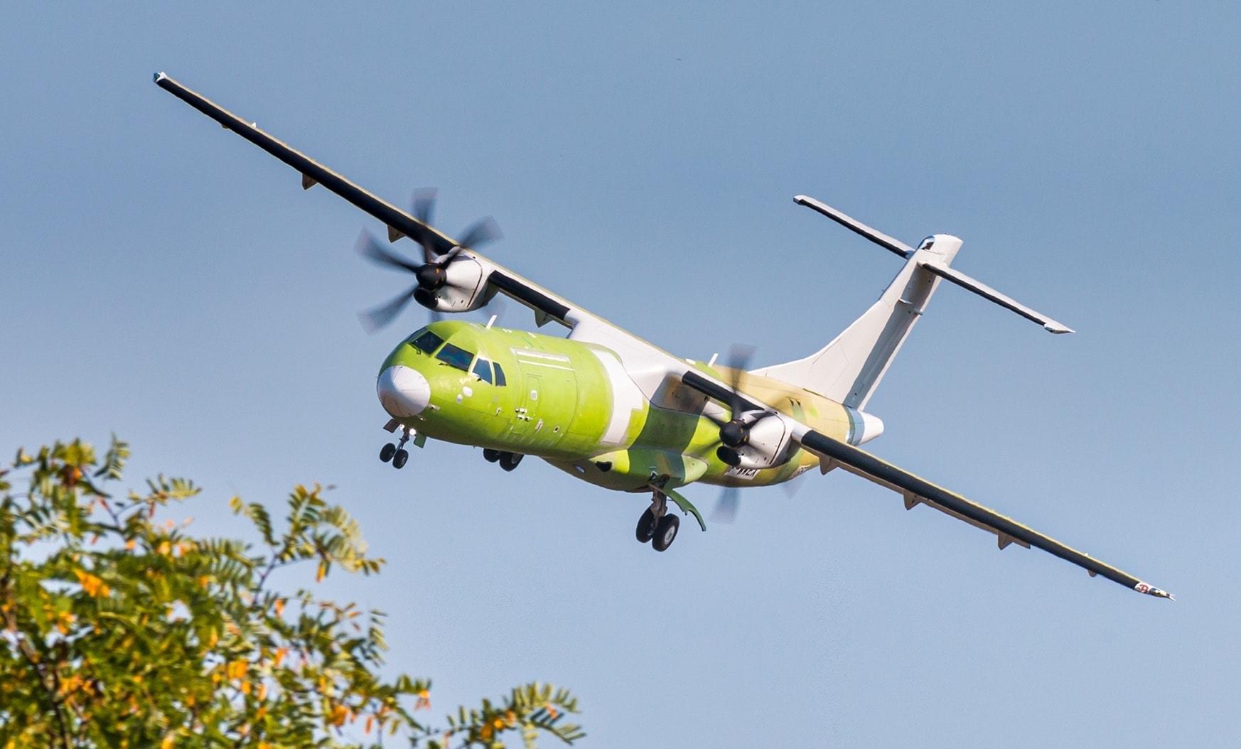 Premier vol de l'ATR 72-600F