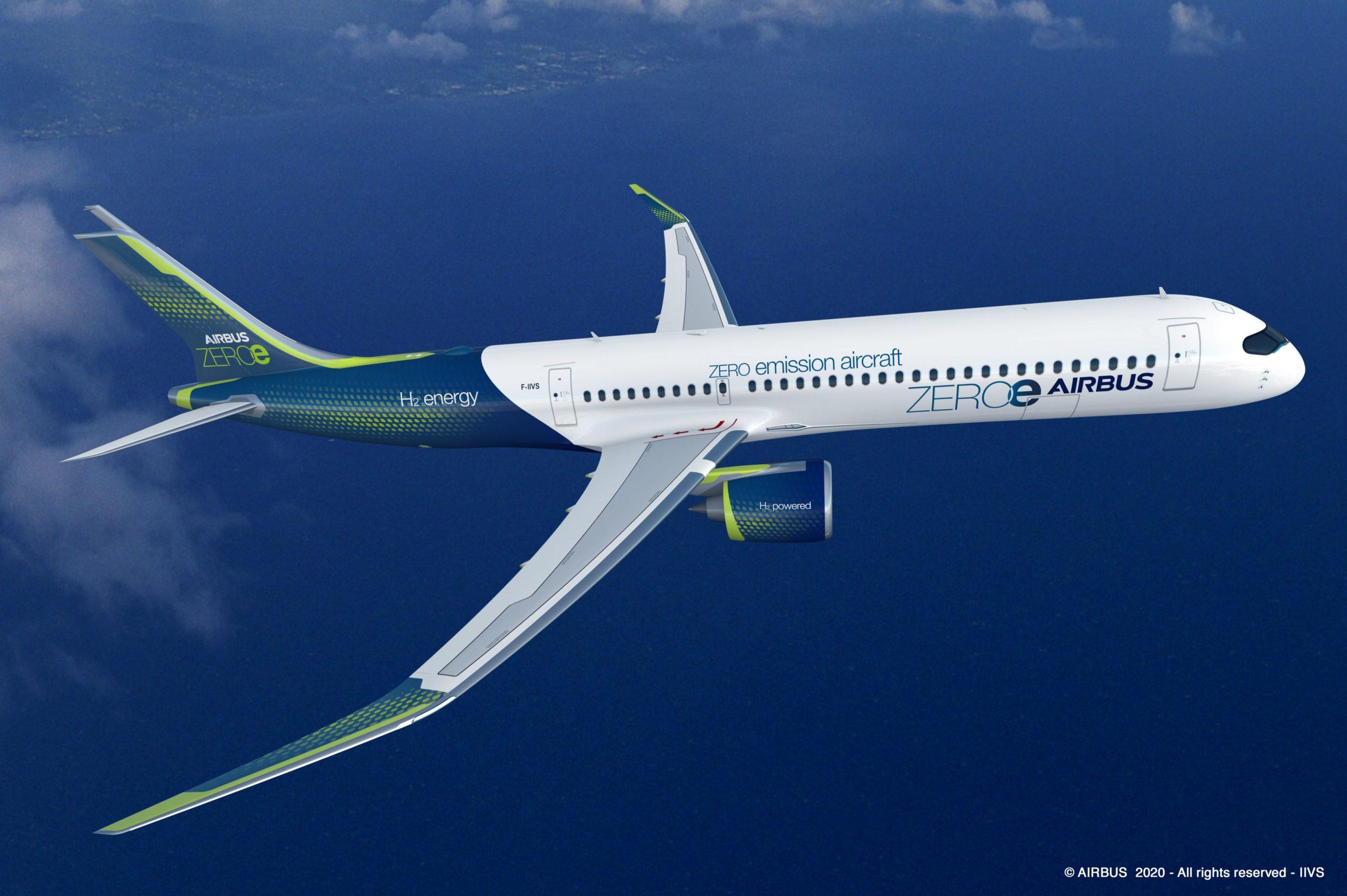 Airbus ZeroE à l'hydrogen
