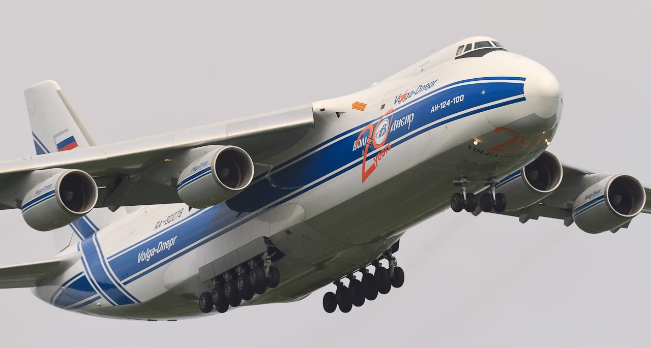 L'Antonov AN-124 pour le transport de fret international