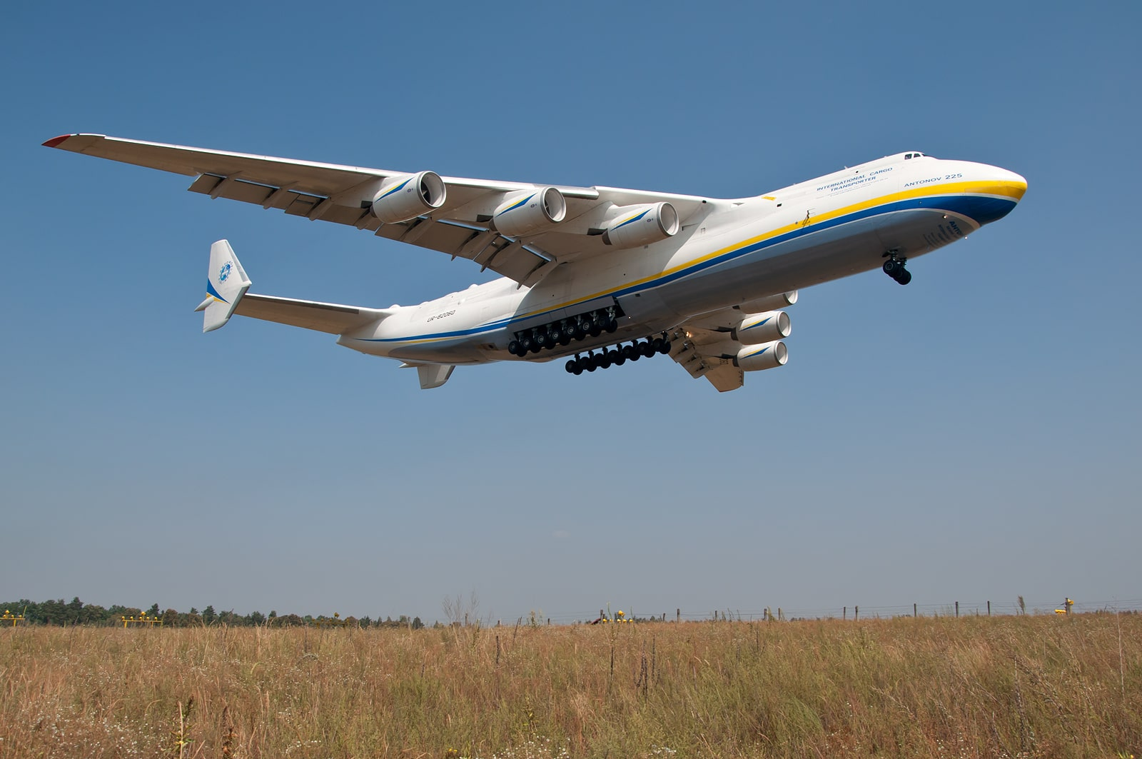 L'antonov AN-225 pour l'expédition de marchandises à l'international