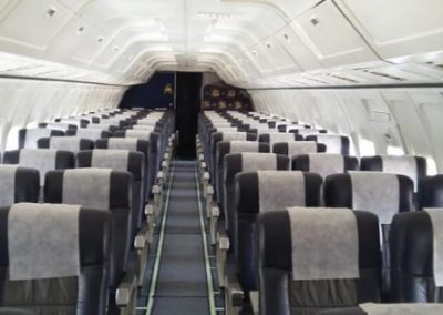 Cabin of the Boeing B737-200