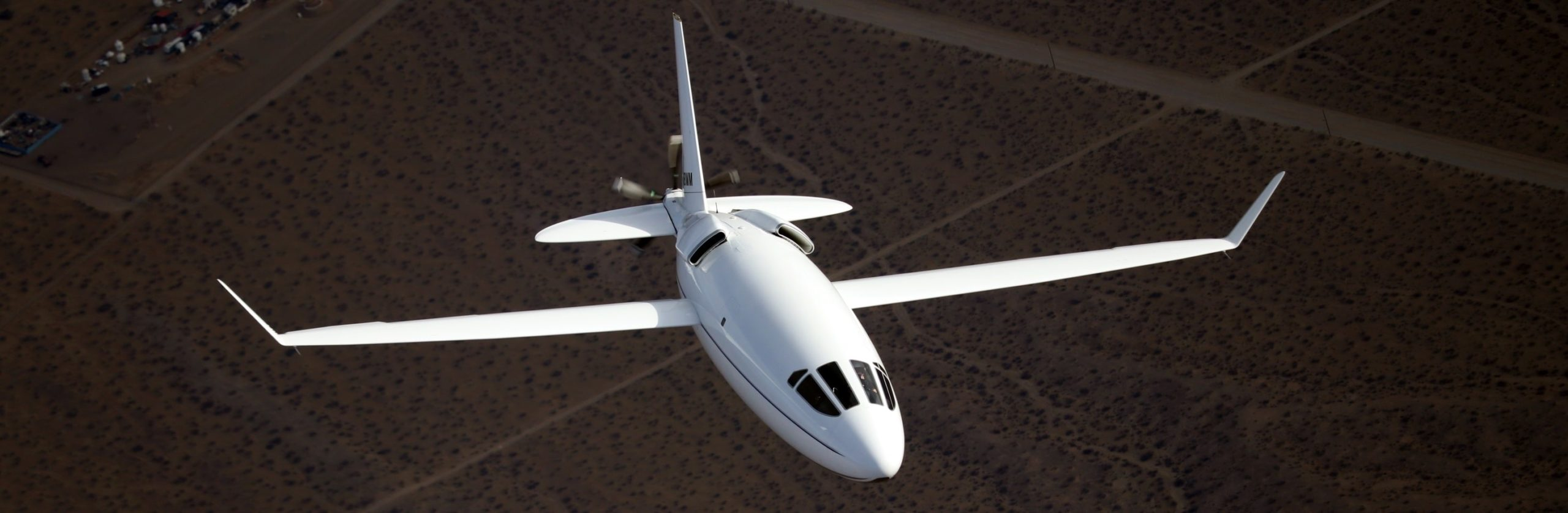 The CELERA 500L flying over desert