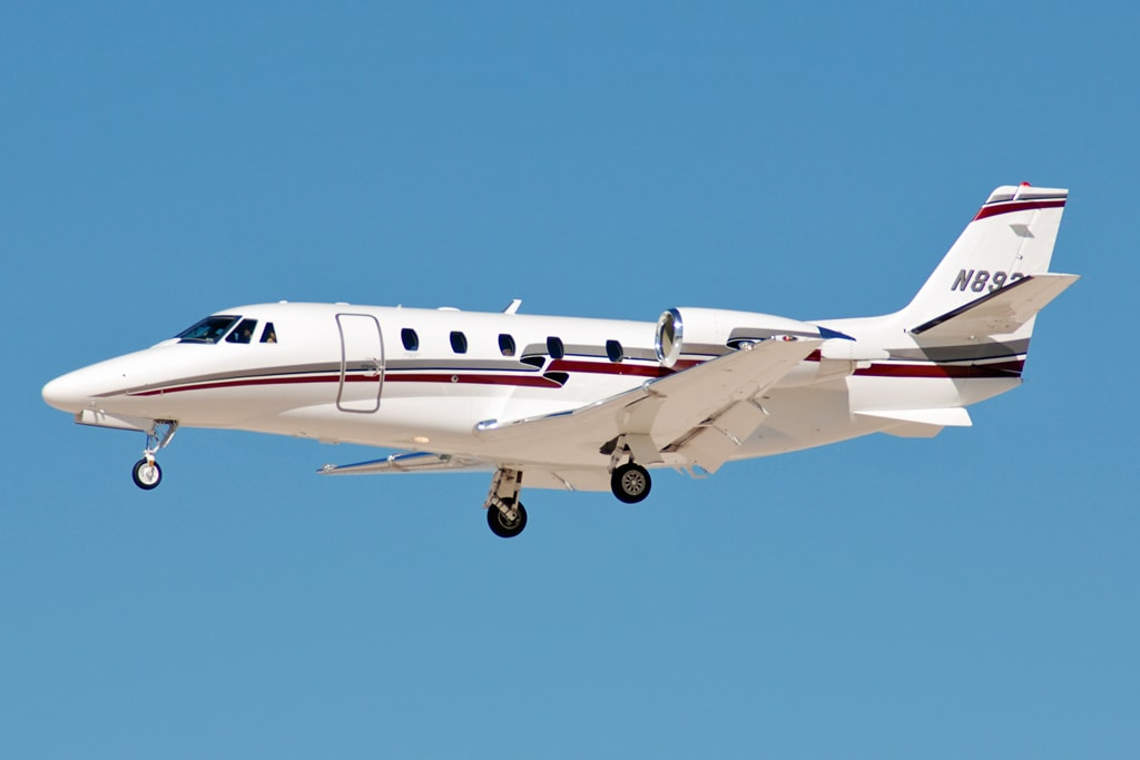 Cessna Citation Excel XL in flight