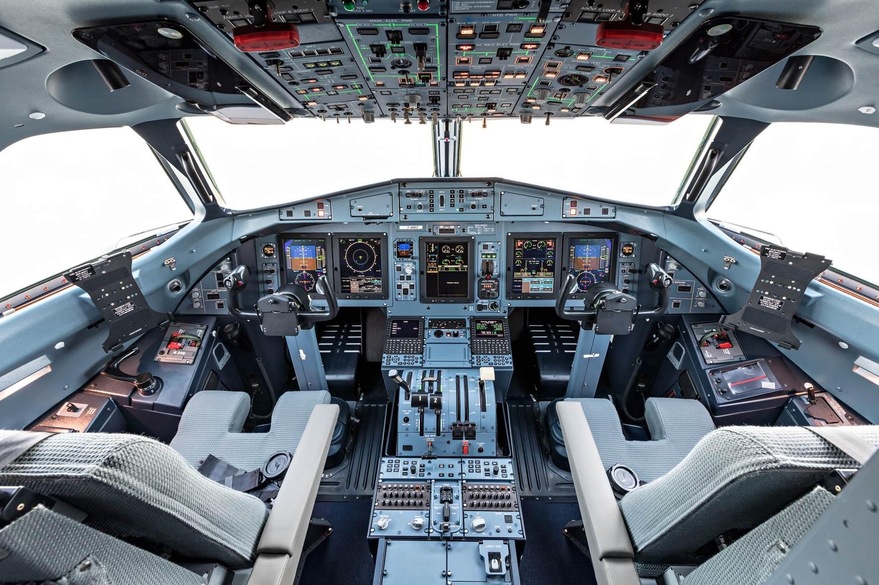 Le cockpit de l'ATR 72-600F