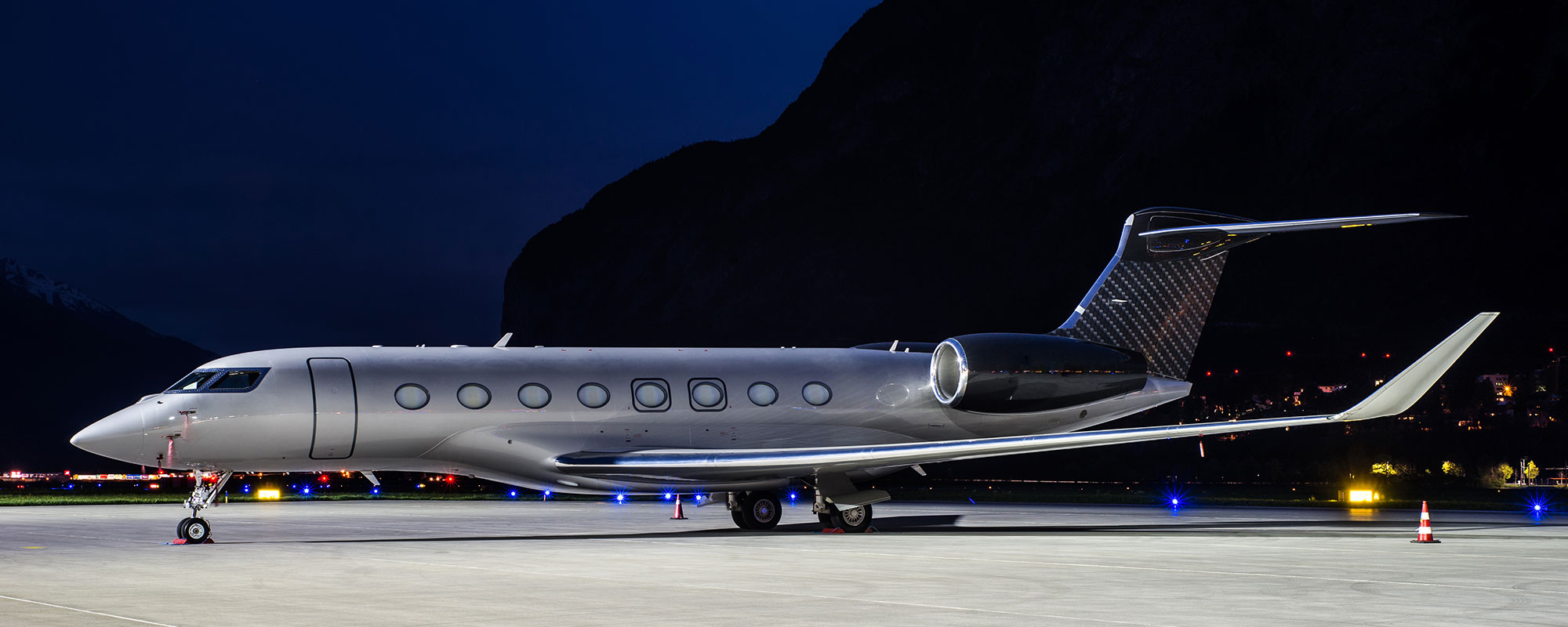 Gulfstream G650 at the airport