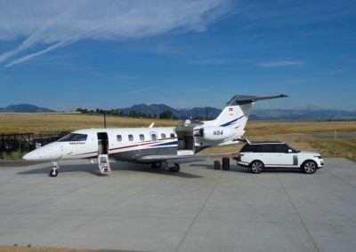 The Pilatus PC-24 at the parking