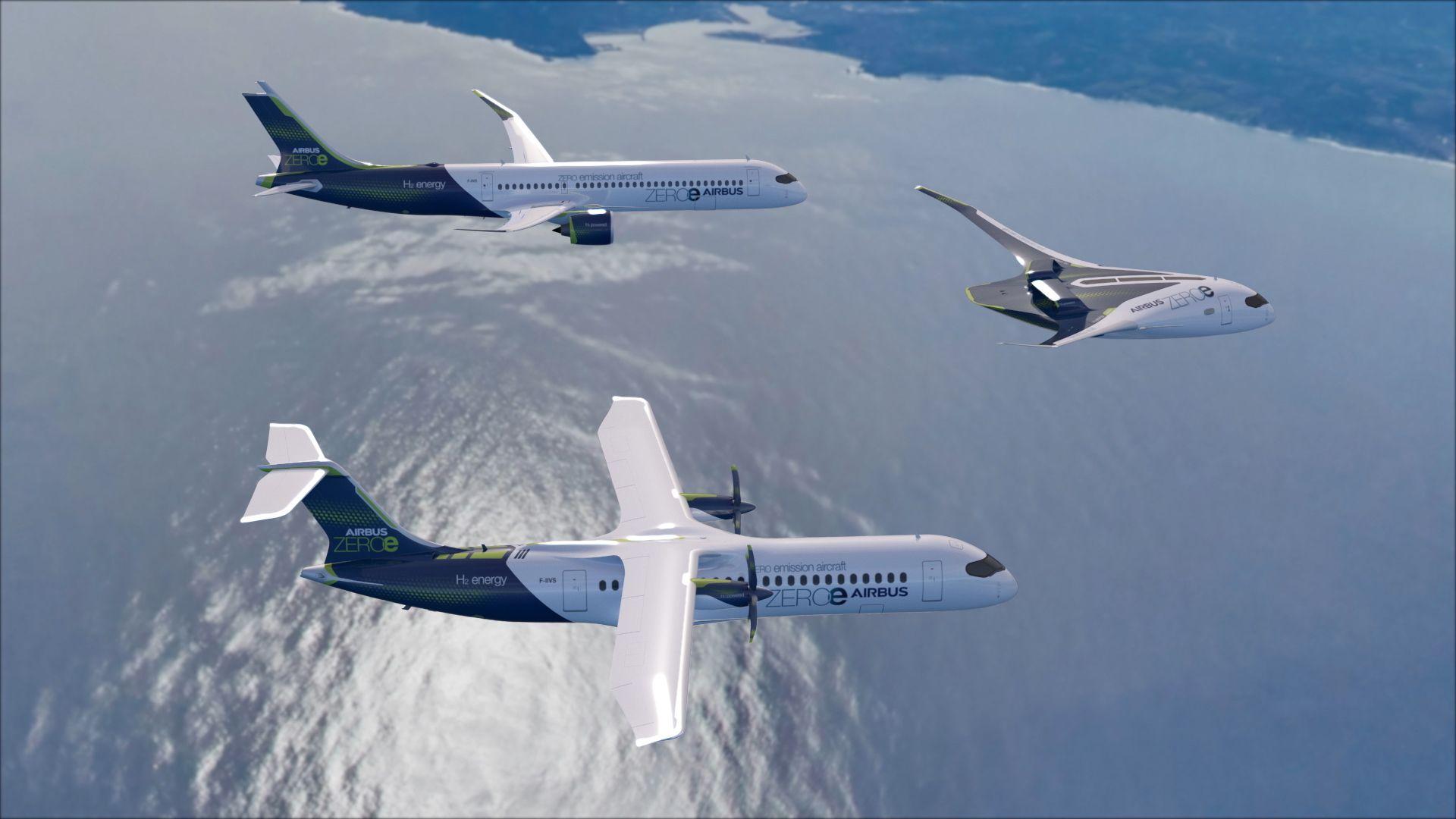 ZeroE concept Airbus Aircraft Patrol Flight