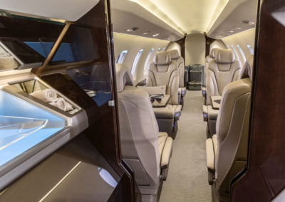 The cabin of the Pilatus pC-24