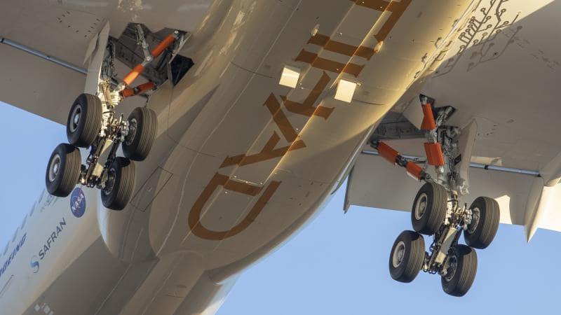Le train d'atterrissage qui permet de réduire le bruit de l'ecodemonstrator de Safran et Boeing