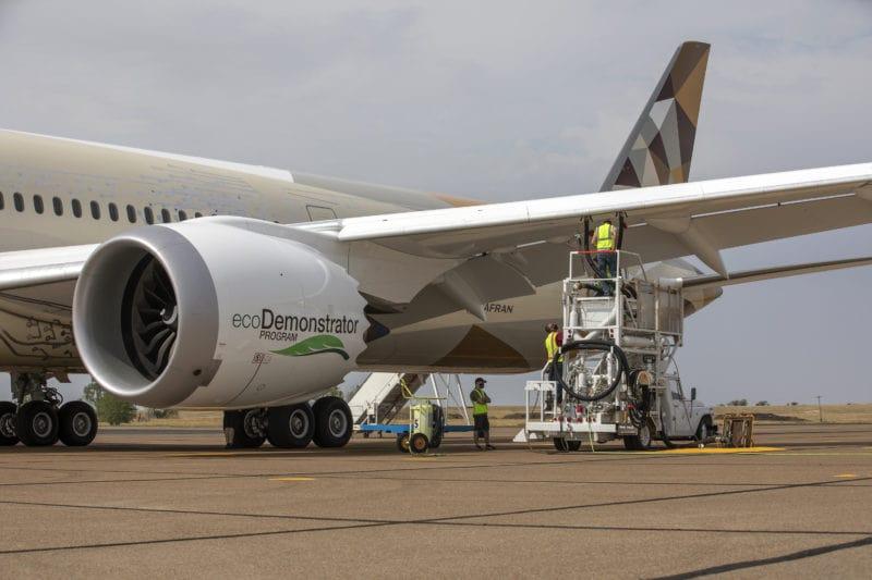 L'ecodemonstrator de Boeing qui utilise du biocarburant