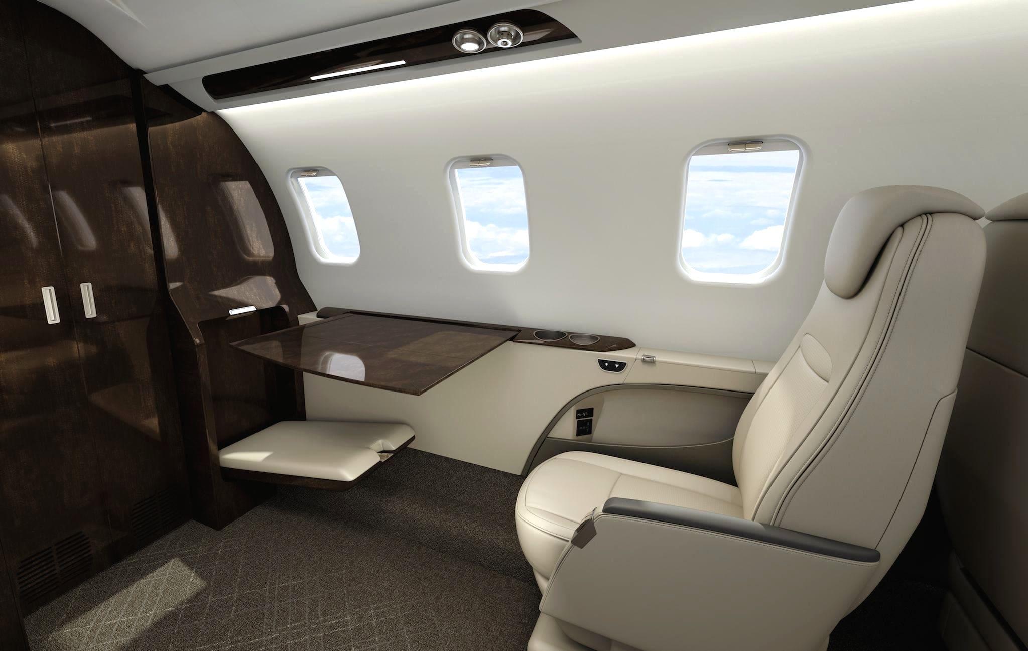 La cabine du Bombardier Learjet 75 Liberty