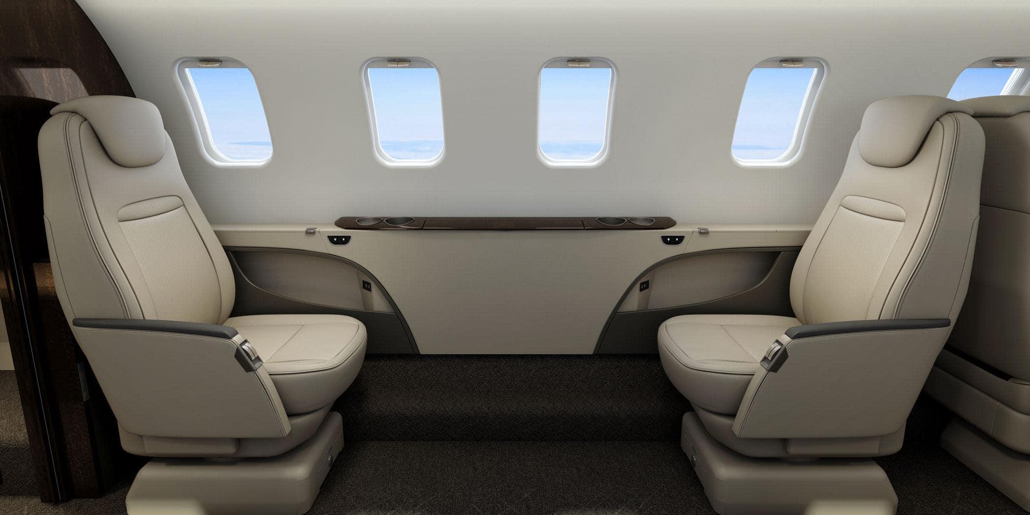 L'intérieur du Learjet 75 Liberty