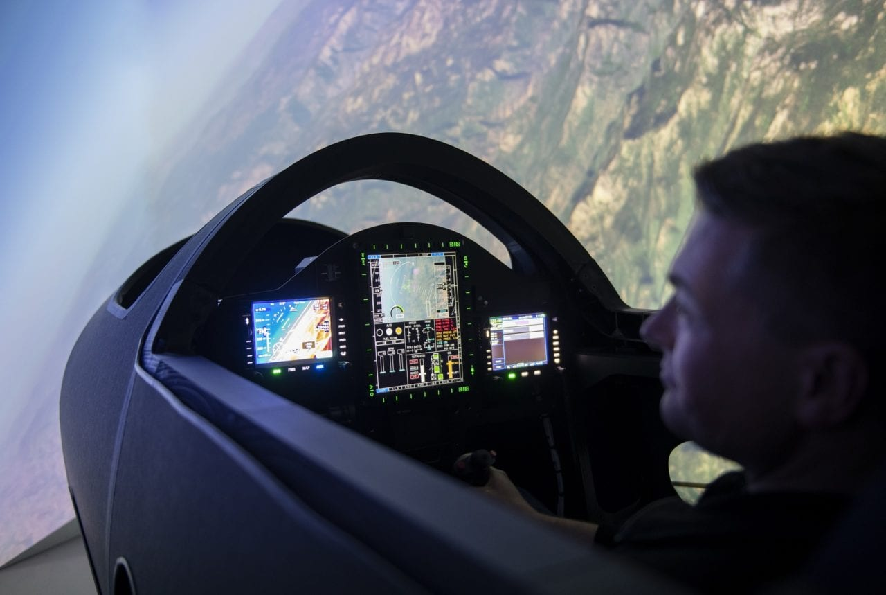 The Cockpit of the Boom Supersonic XB1 Demonstrator