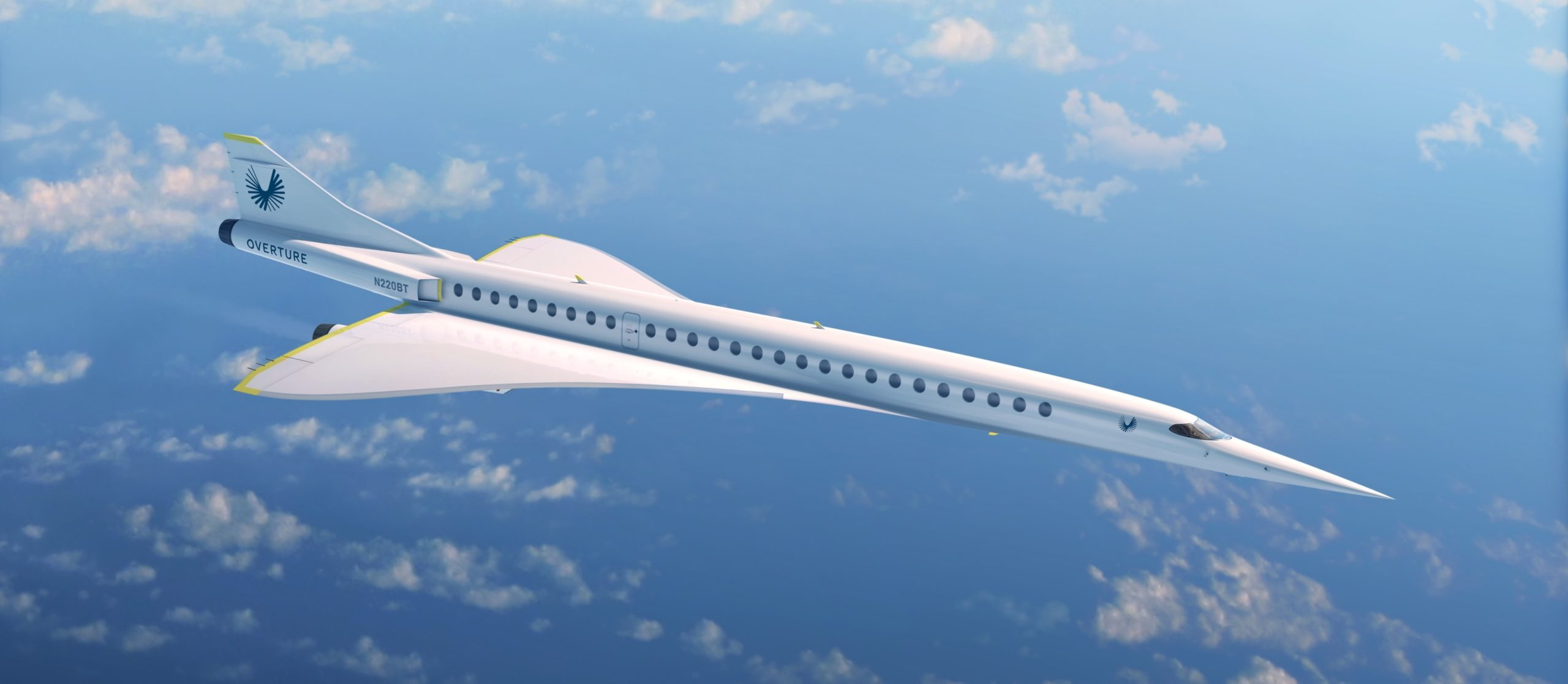 The Boom Supersonic Overture cruising