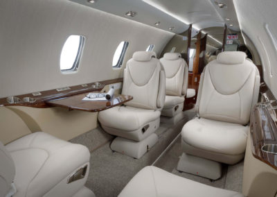The cabin of the Cessna Citation XLS