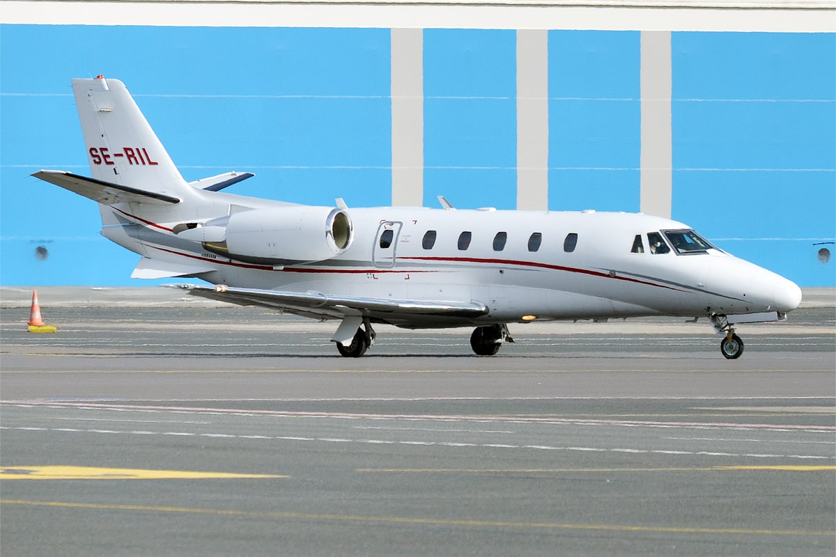 The Cessna Citation XLS on ground