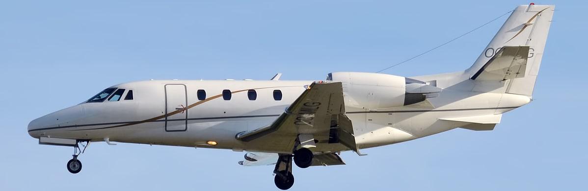 The Cessna Citation XLS approaching runway