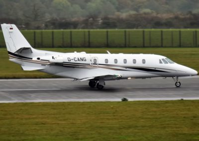 The Cessna Citation XLS+ taxiing