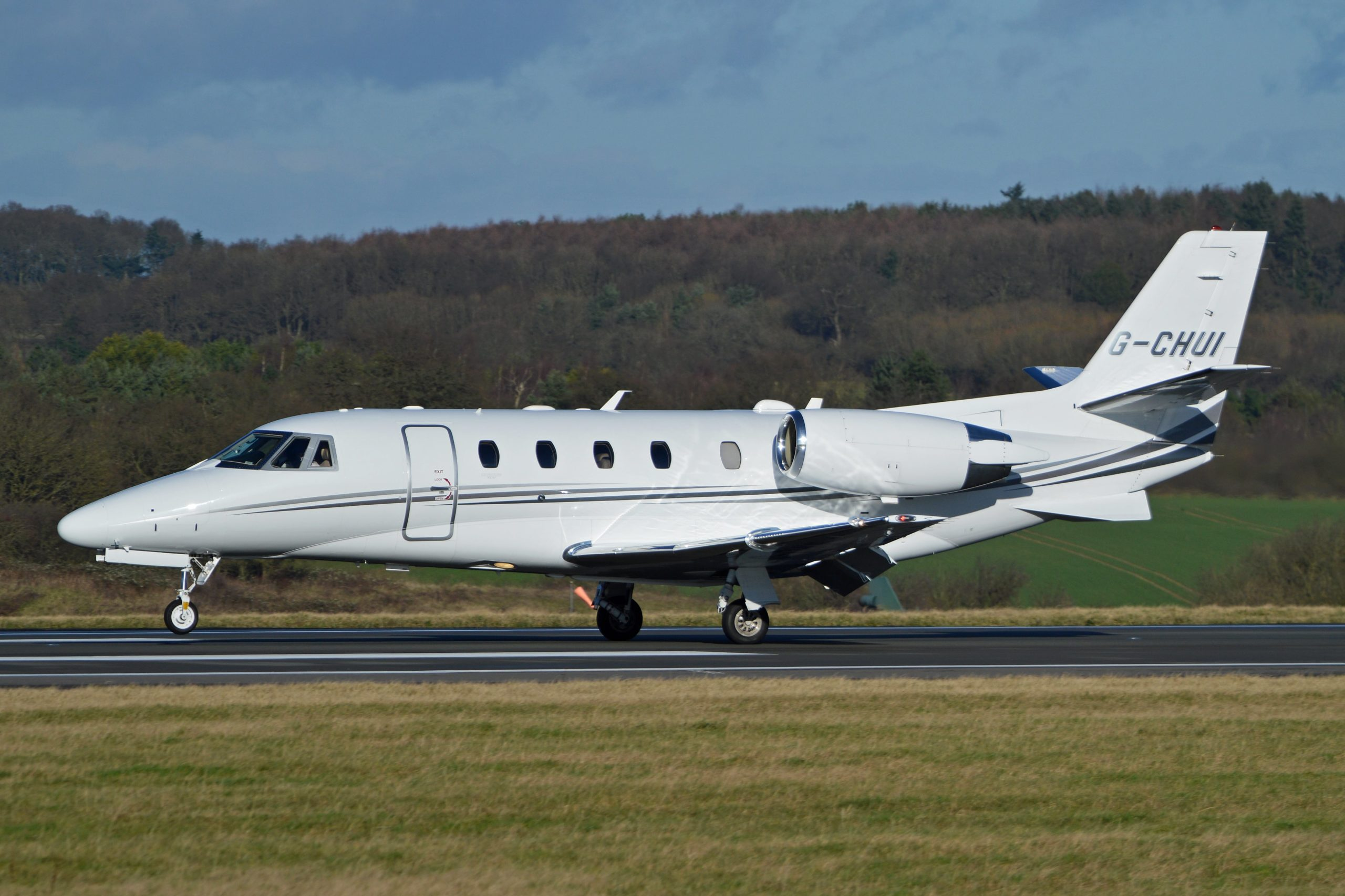 The Cessna Citation XLS+ on runway