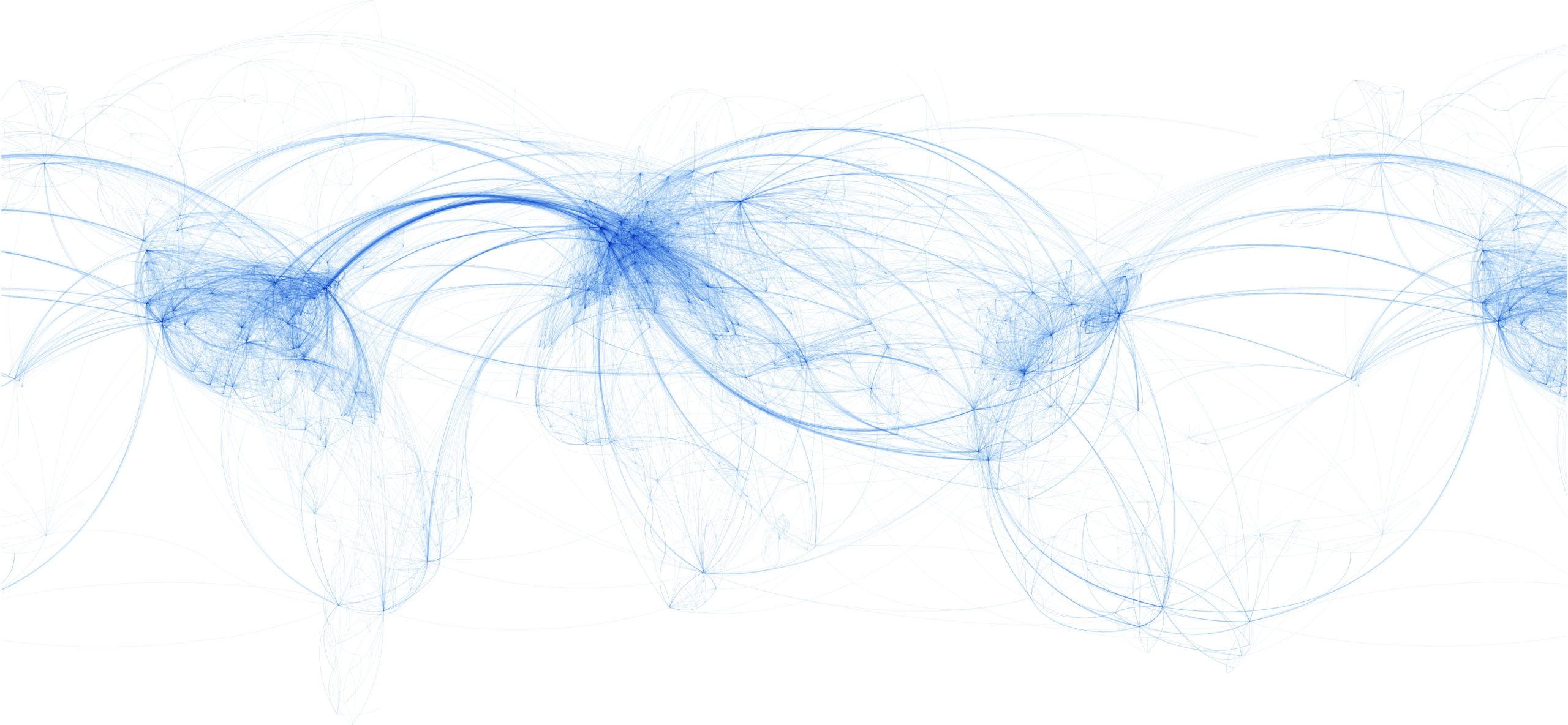 Carte mondiale des destinations pour les expéditions aériennes des vaccins COVID-19