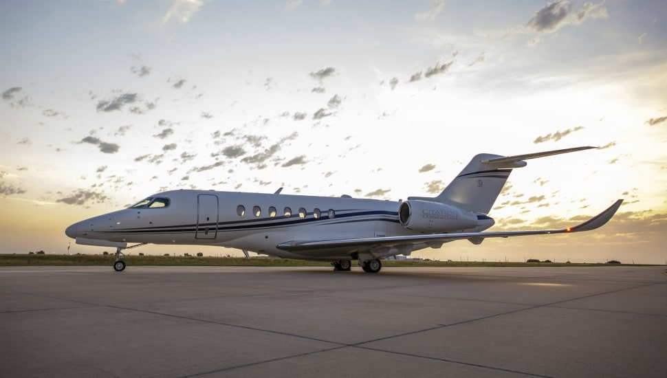 The Cessna Citation Longitude on ground