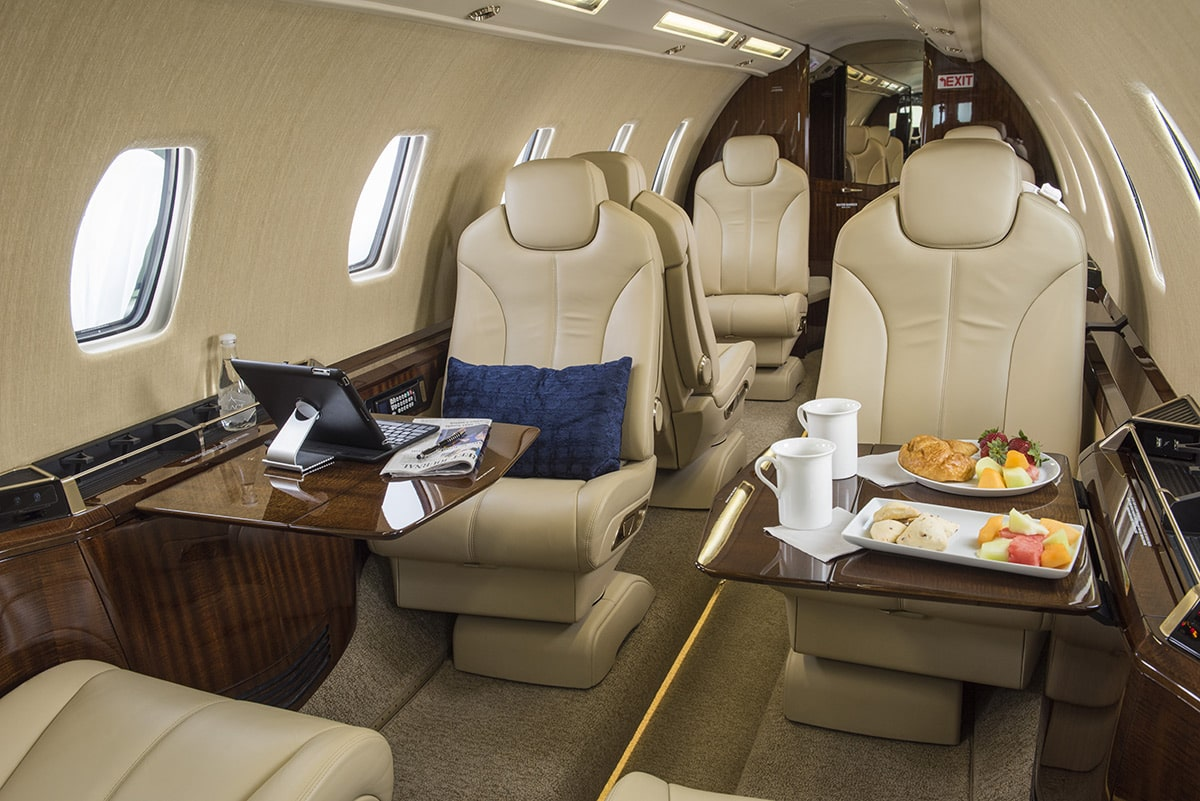 The interior of the Cessna Citation Sovereign