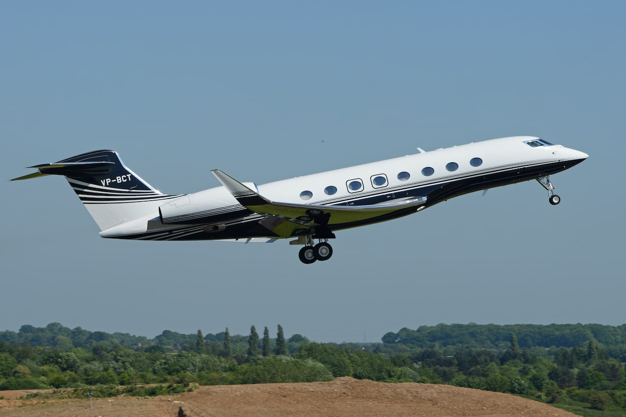 The gulfstream G650 take-off