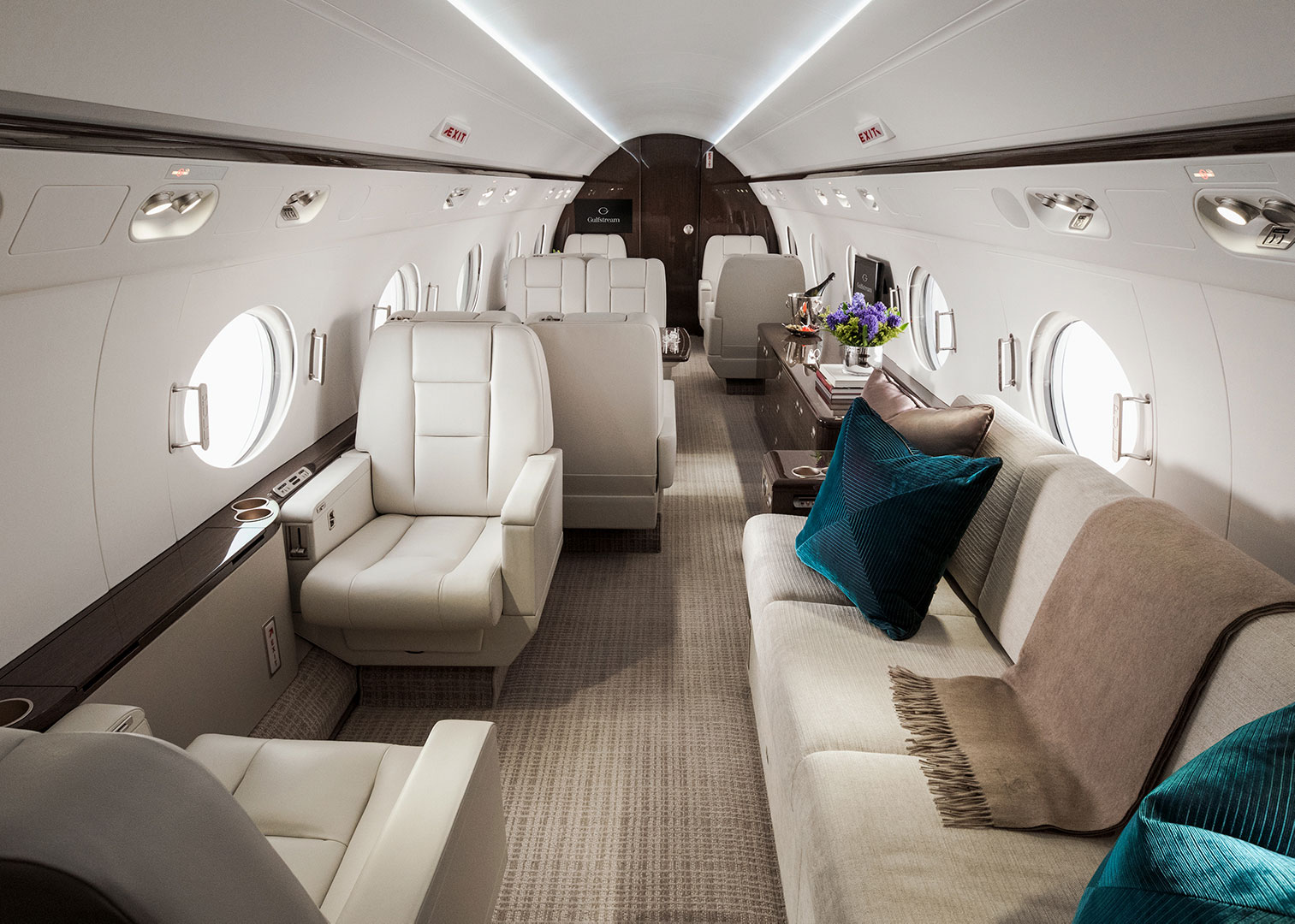 Interior of the Gulfstream V