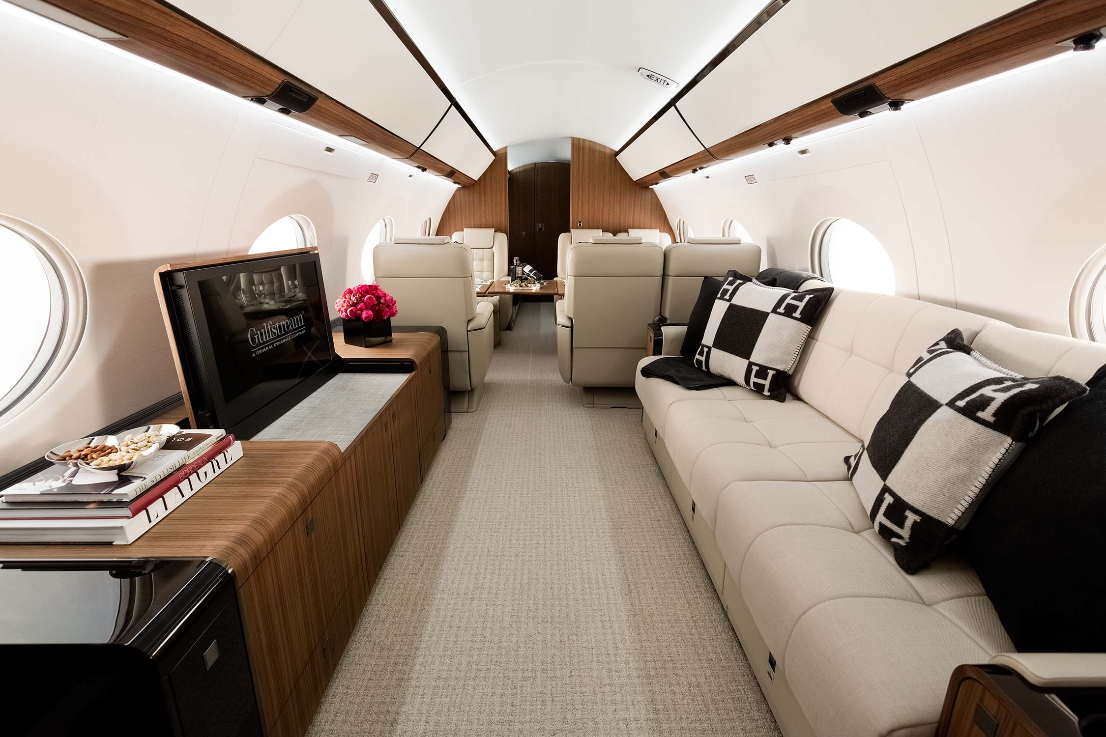 Interior of the Gulfstream G650