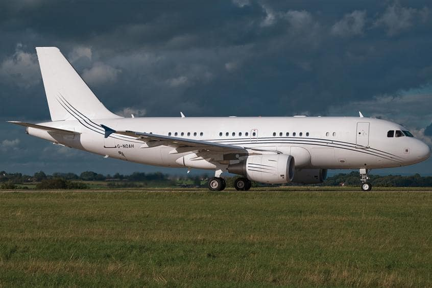 Charter an Airbus A319 Corporate Jet VIP