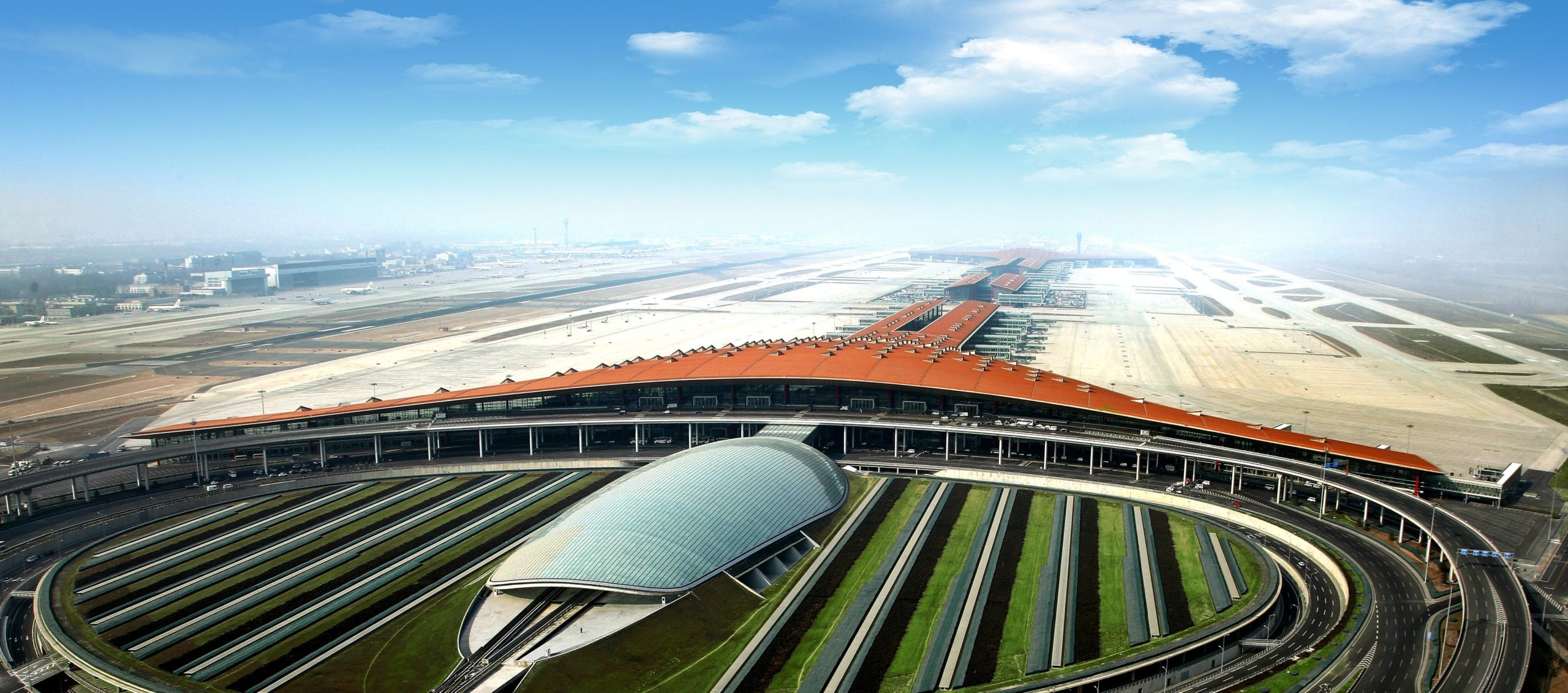 Beijing Capital Airport Aerial View
