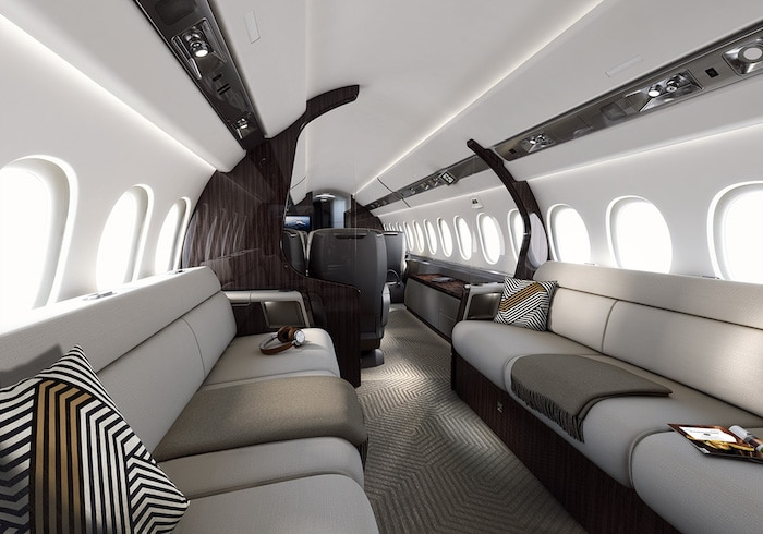 Interior of the Dassault Falcon 6X
