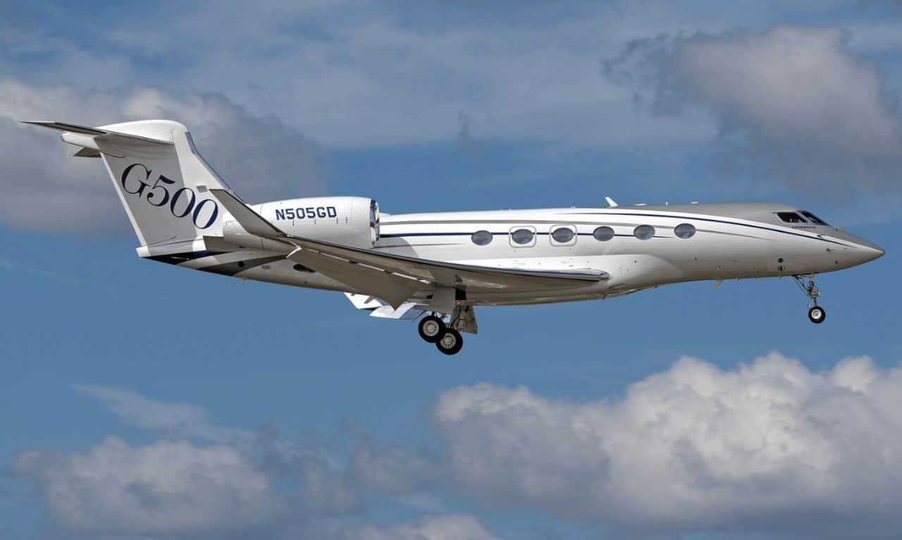 The Gulfstream G500 landing