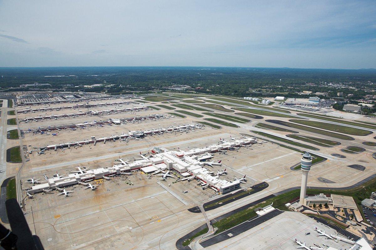 Atlanta Airport Aerial View