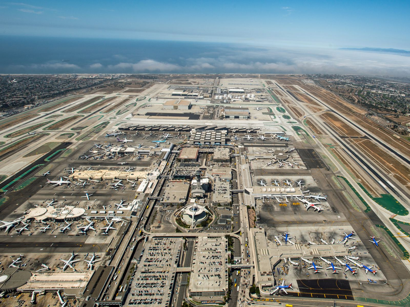 Los Angeles Airport Aerial View