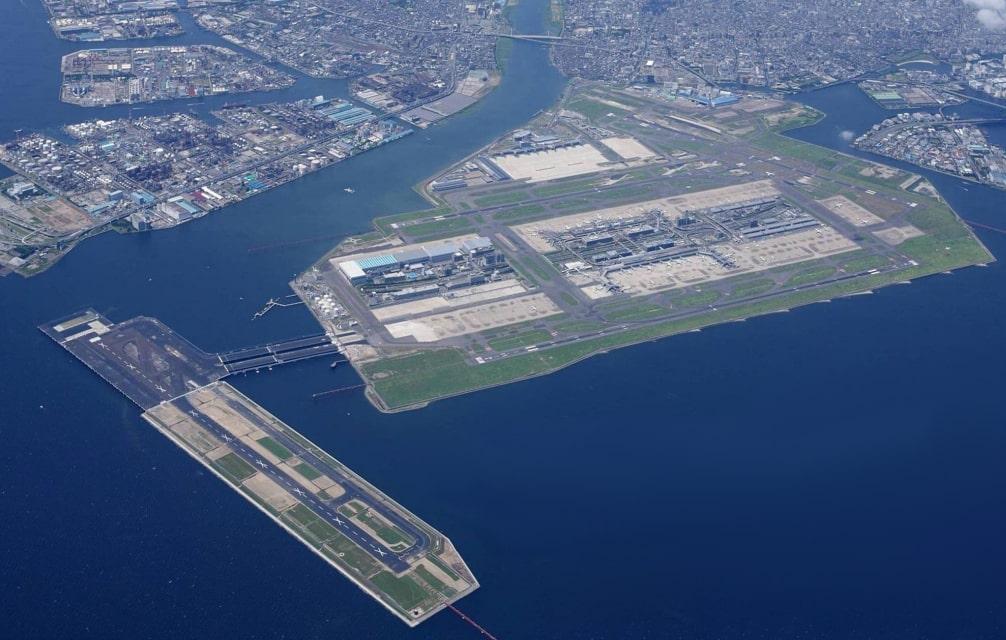 Tokyo Haneda Airport Aerial View