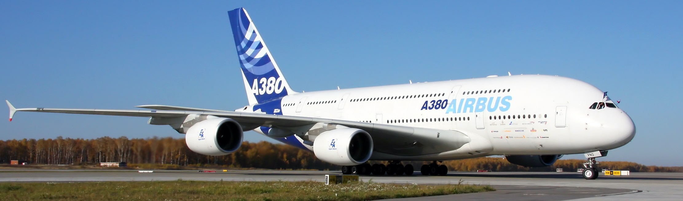 White Airbus A380 Menkor Aviation